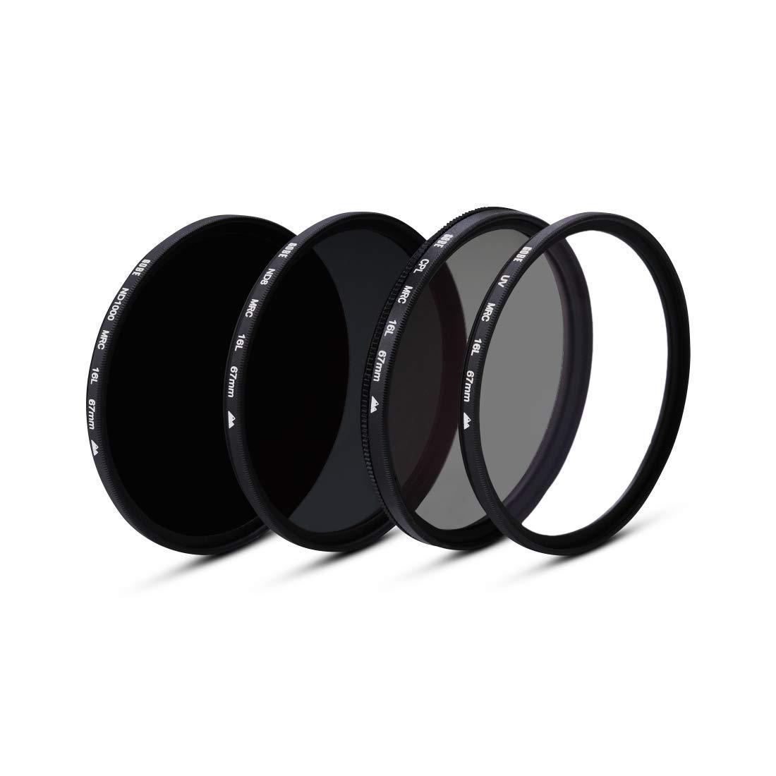 Circular Polarizing ND8 Gobe 55mm UV ND1000 Lens Filter Kit 2Peak CPL