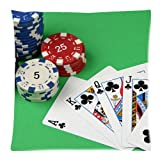 Flipped Summer Y Poker Playing Card Games Decorative Custom Pillowcase Bear Pillow Cushion Cover Pillowslip Size 18''x 18''