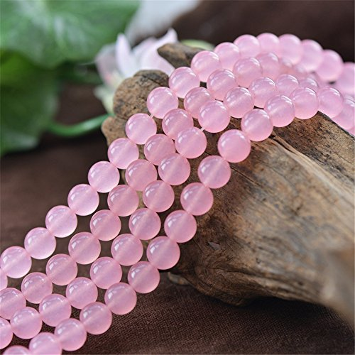 Grade A Natural Pink Jade Beads 4mm 6mm 8mm 10mm 12mm 14mm Smooth Polished Round 15 Inch Strand for Jewelry Making JA35 -
