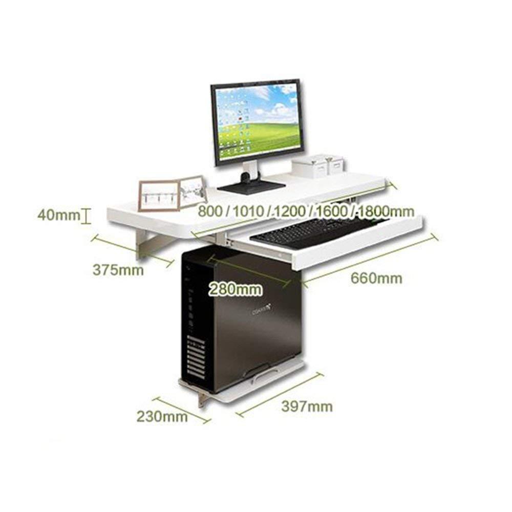 Scrivania Per Computer Bianco.120 Cm Bianco Deawecall Tavolo Porta Computer Pc Portatile Da