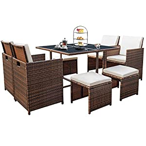 515dhRcBWwL._SS300_ Wicker Dining Tables & Wicker Patio Dining Sets