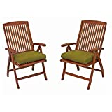 International Caravan Royal Tahiti Outdoor Patio Chair (Set of 2) For Sale