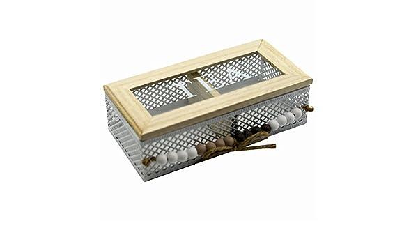 Vilys House Caja de Metal y Madera Decorada para Guardar Las ...