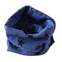 Charberry Winter Boys Girls Collar Baby Scarf Cotton O Ring Neck Scarves (Blue)