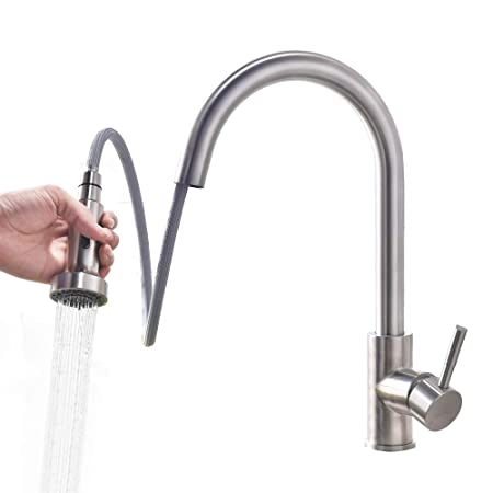 Homelody Kitchen Tap Extendable Tap Kitchen with Shower Mixer Tap ...