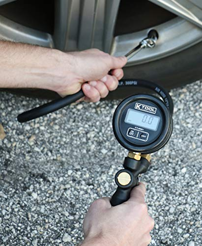 K Tool International - Digital Tire Inflator With Pressure Gauge, 150PSI With 0.1 PSI Resolution, Du - http://coolthings.us