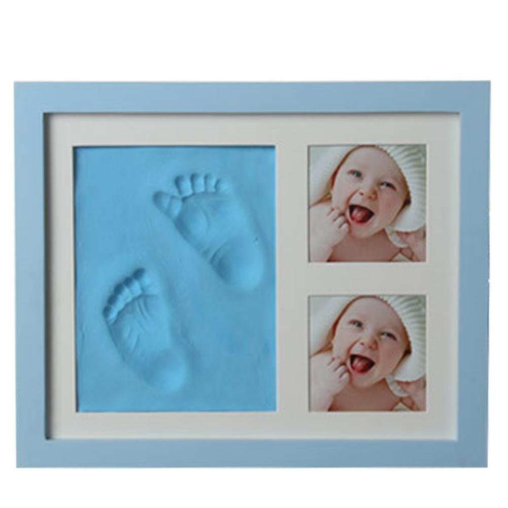 Baby Handprint and Footprint Photo Clay Frame Kit with No Mold Baby Picture Fam and No Toxic Baby Footprint Kit for Boys and Girls.