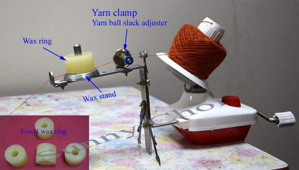 Standard Wool Winder Swift Yarn Ball Winder with Wax Stand and Controller Set - Hand Operated