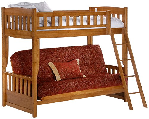 Night & Day Furniture Cinnamon Futon Bunk, Medium Oak Finish