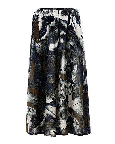 Femme Jupe Print t Line Longue A Robe Couleur 9 Art Plage Style Bohemian Jupes Swing Retro Et Littrature Grand Nouvelle Maxi Fluide rqrdw64E