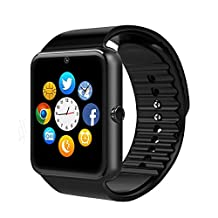 ASYOU SmartWatch Bluetooth Watch,Support SIM Card Bluetooth Smartwatch with USB Cable for Android Smartphone