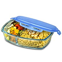 Smart Planet Pure Glass Bento Delux Meal Container, , Clear