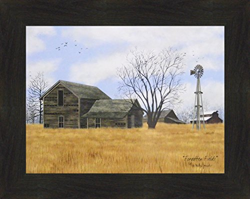 Forgotten Fields by Billy Jacobs 16x20 Old Weathered House Outbuildings Barn Windmill Farm Framed Art Print - Jacobs Framed Field