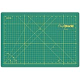 "Crafty World Professional Self-Healing Double Sided Rotary Cutting Mat - Long Lasting Thick Non-Slip 12"" x 18"" Mat that Provides Easy Cuts for Fabric, Quilting, Sewing, and All Arts & Crafts Projects"