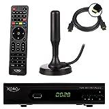 Xoro HRT 7620 FullHD HEVC DVBT/T2 Receiver (HDTV, HDMI, PVR, SCART, USB 2.0, LAN) + DVB-T/ T2 Antenne 20 dB + HDMI Kabel