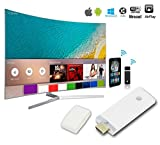 HDMI Miracast Dongle, 2.4G WiFi Wireless Hdmi Streaming Media Dongle Miracast Device, For iPhone/iPad/Mac Book, Android/OS/iOS/Mac OS/Windows Devices - White