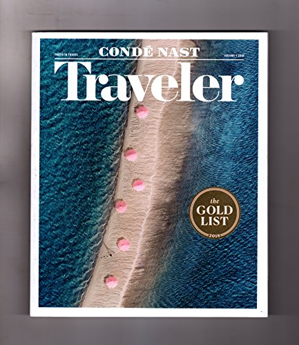 Conde Nast Traveler Magazine January Volume 1 2018 | The Gold List