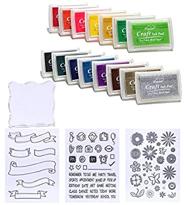 Decora 15pcs Ink Pads Work with Clear Stamp ¡