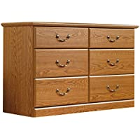 Sauder 401410 Carolina Oak Finish Orchard Hills Dresser, 6 Drawer