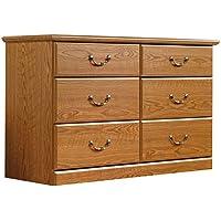 Sauder 401410 Carolina Oak Finish Orchard Hills Dresser, 6 Drawer