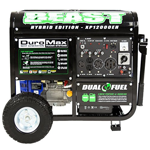 DuroMax XP12000EH Dual Fuel Portable Generator by DuroMax