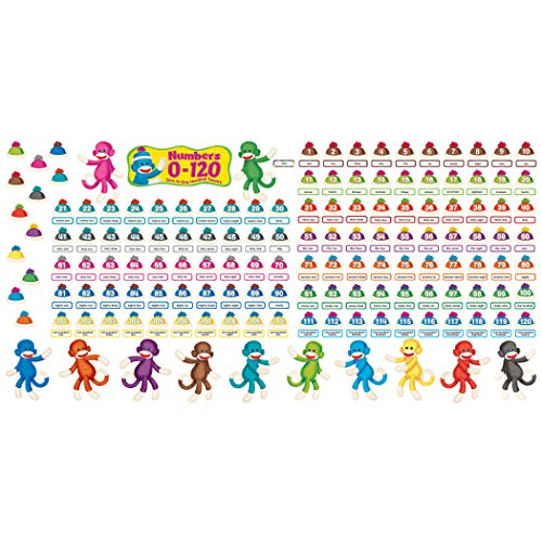 Trend Enterprises Sock Monkeys Numbers 0-120 Bulletin Board Set (T-8298) Photo #3