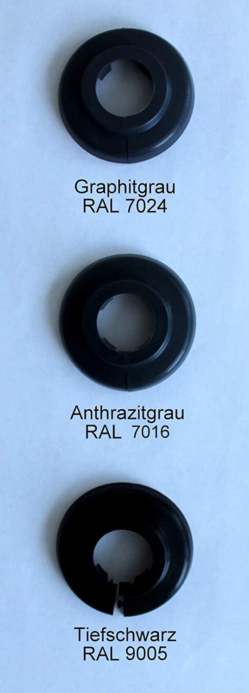 2/unidades 15/mm /Único de rosetones para tubos de calefacci/ón 18/mm protectora para tubos de calefacci/ón 22/mm polipropileno en especial de colores: gris marr/ón de /& Negro de tonos calefacci/ón