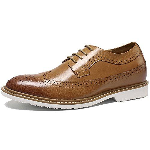 Oxford Flats en cuir décontractée Mode homme Mocassins en cuir pour homme,marron,43,6597_6597