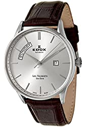 Edox Les Vauberts Day Date Automatic Men's Automatic Watch 83010-3B-AIN