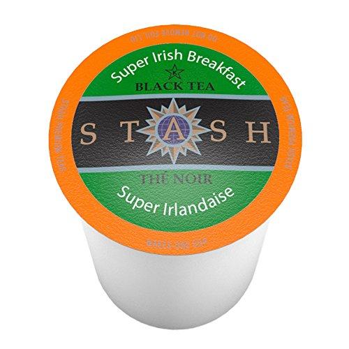 Stash Tea Super Irish Breakfast Single-CupTea for Keurig K-Cup Brewers, 24 Count (Green Tea Super)