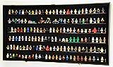 180 Lego Men / Legos / Mini Figures Minifigures /Display Case Cabinet - Lockable (Black Finish)