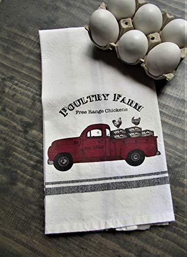 Poultry Farm Truck Kitchen Dish Towel