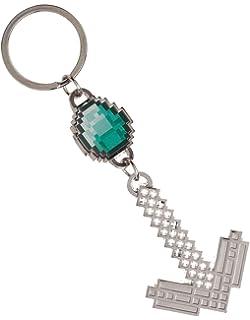 Amazon.com: JINX Minecraft Diamond Sword Metal Key Chain ...
