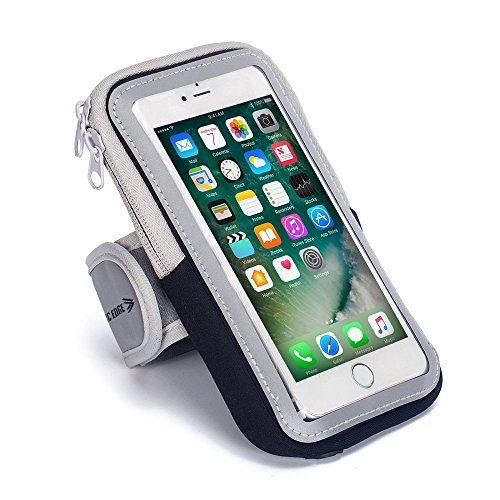 Price comparison product image Sports Armband: Cell Phone Holder Case Arm Band Strap With Zipper Pouch/ Mobile Exercise Running Workout For Apple iPhone 6 6S 7 iPod Touch Android Samsung Galaxy S5 S6 S7 S8 Edge LG HTC Pixel