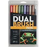 Tombow DBP10-56168 Dual Brush Pen Art Markers, Secondary, 10-Pack