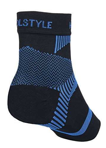 Holstyle Far Infrared Rays Ankle Compression Sleeve Socks for Plantar Fasciitis Support Brace for Men and Women1pair M