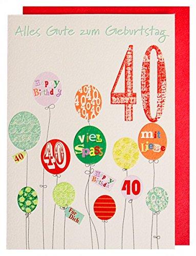 Tarjeta de cumpleaños para 40. Con Glimmer barniz tarjeta de ...