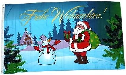Fahne Flagge Frohe Weihnachten Rentierkopf Ren Fun 150 x 90 cm Weihnachtsfahne