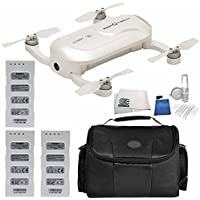 ZeroTech DOBBY Pocket Drone - Includes 2x Flight Batteries + Medium Carrying Case + 5 Piece Cleaning Kit + Microfiber Cleaning Cloth