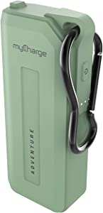 myCharge Portable Charger Waterproof Power Bank Adventure Fast Charging Rugged Heavy Duty Outdoor Small USB Battery Pack External Backup for Apple iPhone, iPad, Android (3350mAh, 18 Hrs) - Green