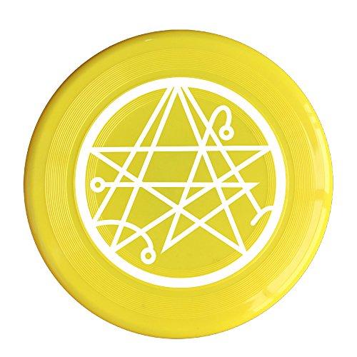 RCINC Necronomicon Logo Outdoor Game Frisbee Flying Discs Yellow