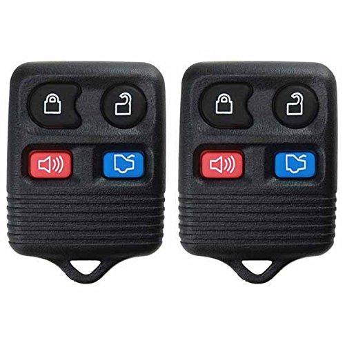 2 KeylessOption Replacement 4 Button Keyless Entry Remote Control Key Fob