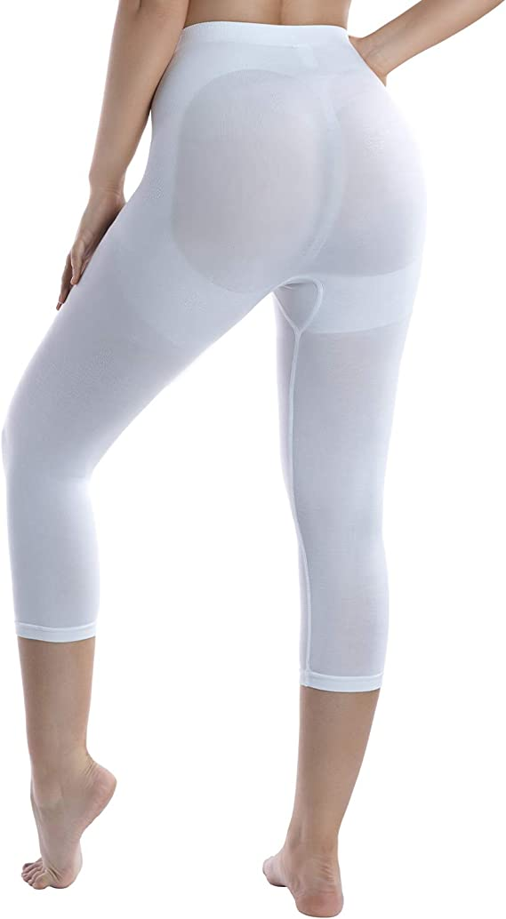 Md Women S Layering Legging Tight Tummy Hips Thigh Light Control Shaper Whitexxl At Amazon Women S Clothing Store