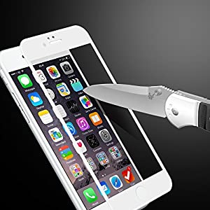 VRURC White iPhone 6/6s Screen Protector, Strong Durable 3D Curved Tempered Glass Screen Protector for iPhone 6/6s [Bubble Free] from VRURC