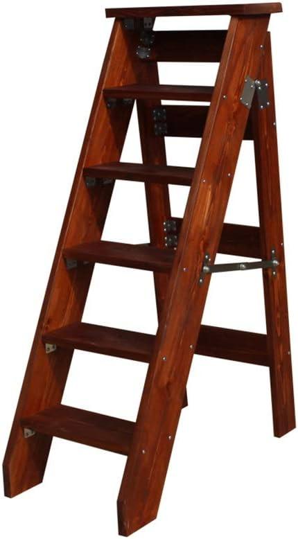 Bseack_store Escalera de espiguilla de 6 peldaños, Escalera Plegable de Madera Maciza para Attic Ascend: Amazon.es: Hogar