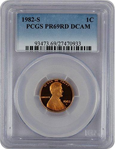 (1982 S Lincoln Cent PR69RD DCAM PCGS)
