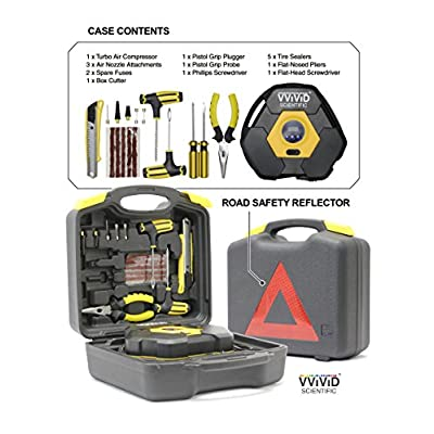 VViViD Deluxe Turbo Tire Compressor Safety Kit: Automotive