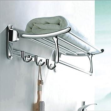 Fortune Platinum Stainless Steel Folding Towel Rack (1.5 Feet Long / 18  Inch) Bathroom