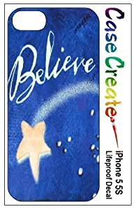 New Style Believe Star Decorative Sticker Decal for your iPhone 5 5S Lifeproof Case