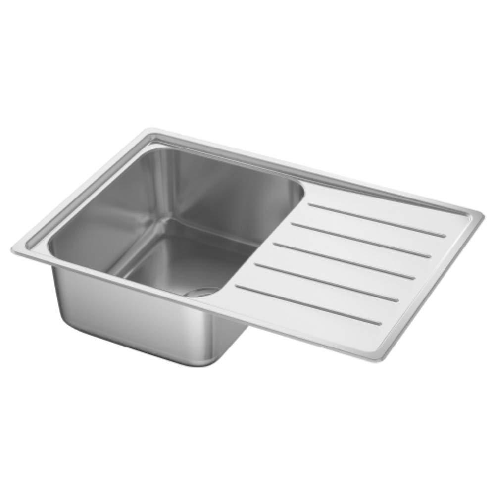 IKEA 891.581.72 Vattudalen Single bowl top mount sink, stainless steel by IKEA.